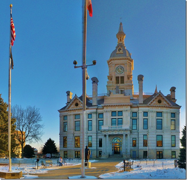 Composite Photo of the Marshall County Courthouse in Marshalltown